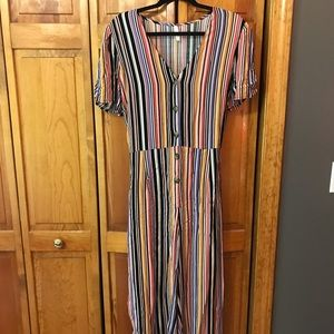 Multi Strip Midi Jumpsuit